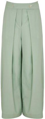 Eudon Choi Rodin Mint Stretch-wool Trousers