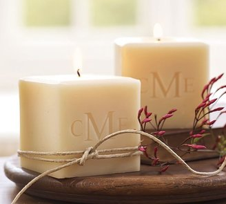 Pottery Barn Monogrammable Cube Candle