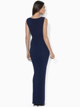 Ralph Lauren Sleeveless Matte Jersey Gown