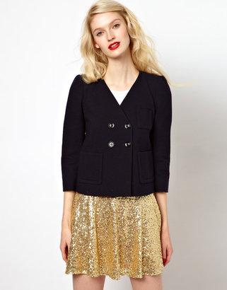 Sonia Rykiel Sonia by Wool and Cotton Boxy Jacket