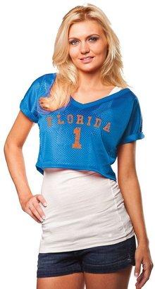 Women's Chicka-d Florida Gators Mesh Crop Top