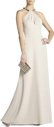 Red Carpet Sarah Embellished Halter Gown