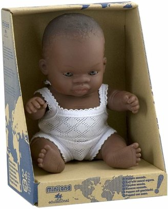 Miniland Baby Doll African Girl, 21 cm