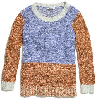 Madewell Colorblock Fringe Sweater
