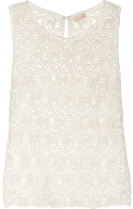 Collette Dinnigan Collette by Portobello cotton-lace top