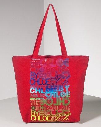 See by Chloe Women's Rainbow Logo Canvas Bag