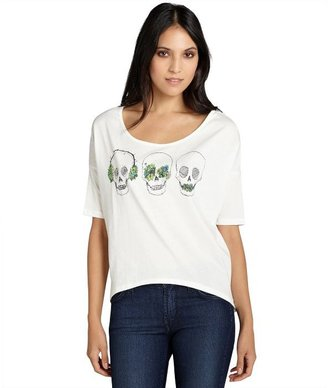 Blondes Make Better T-Shirts white 'No Evil' dolman sleeve boxy t-shirt