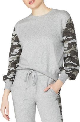 Monrow Nakita Cotton-Blend Camo-Print Sweatshirt