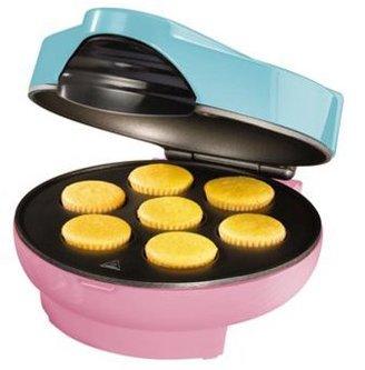 Nostalgia Electrics Non-Stick Cupcake Maker, Blue and Pink