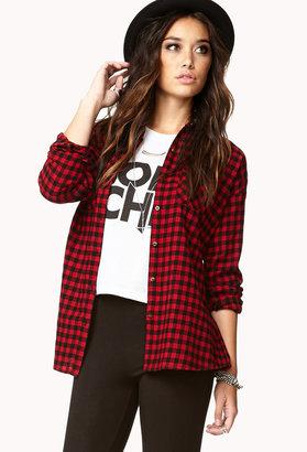 Forever 21 Easy Plaid Shirt