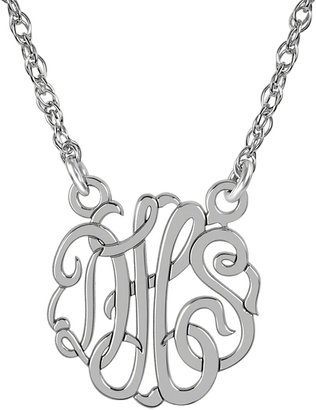 FINE JEWELRY Personalized Sterling Silver 15mm Monogram Necklace $399.98 thestylecure.com