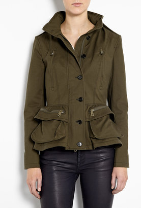 Burberry Cotton Jacket With Peplum Waist