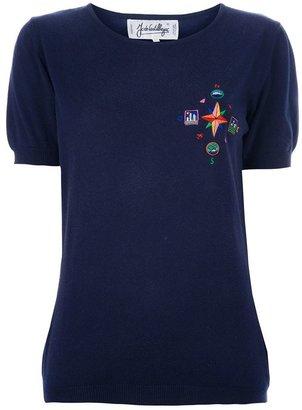 JC de CASTELBAJAC Vintage fine knit embroidered T-shirt