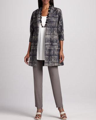 Eileen Fisher Illusion Jacquard Coat