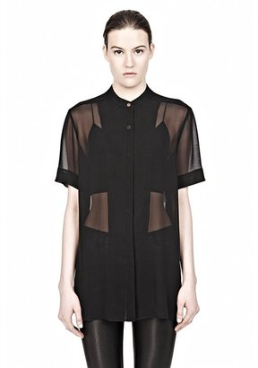 Alexander Wang Short Sleeve Chiffon Shirt