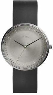 Fossil The Essentialist Three-Hand Black Leather Watch