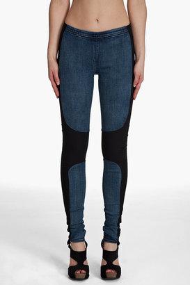 Helmut Lang STRETCH COMBO Denim Leggings