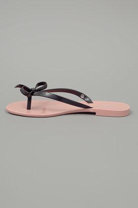 Melissa Jason Wu by Harmonic Sandal Flat w/Bow Blush
