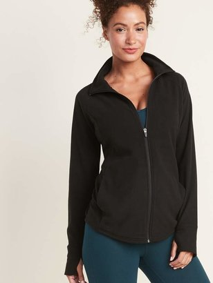 Old Navy Maternity Semi-Fitted Micro Performance Fleece Zip Jacket