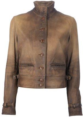 Ralph Lauren Blue Lamb skin jacket