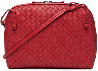 Bottega Veneta Small Messenger Bag in Blood