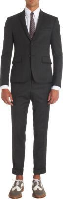 Thom Browne Grosgrain Trimmed Two-Piece Suit