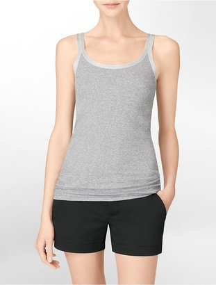 Calvin Klein Lurex Trim Scoopneck Tank Top