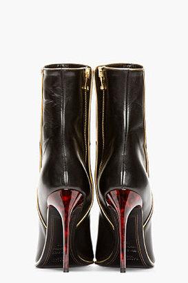 Balmain Black tortoiseshell-heeled Ankle Boots