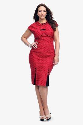 Retro Chic Stop Staring! - Red Polka Dot Bombshell Dress