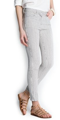 MANGO Outlet Striped Slim Trousers