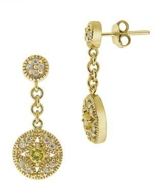 Lord & Taylor Cubic Zirconia Round Drop Earrings