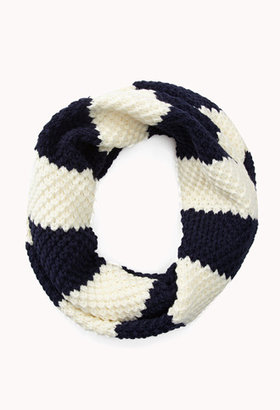 Forever 21 Thick Striped Infinity Scarf