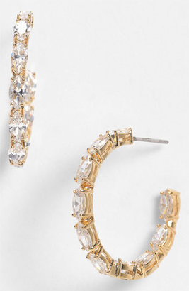Nadri Cubic Zirconia Cluster Inside Out Hoop Earrings