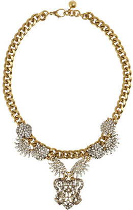 Lulu Frost Sunburst Drape Swarovski crystal necklace