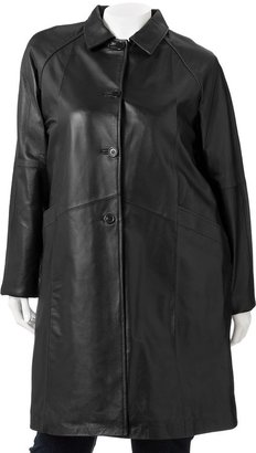 Excelled leather walker coat - tall