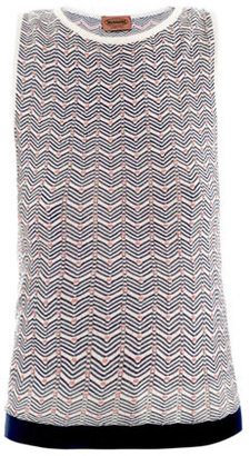 Missoni Chevron knit sleeveless top