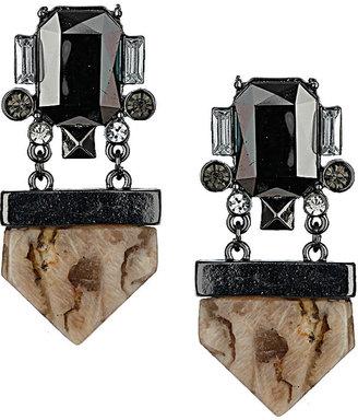 Topshop Semi-Precious Stone Crystal Earrings