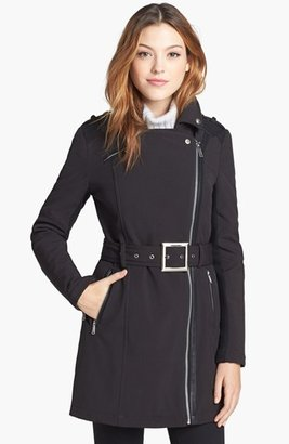 BCBGeneration Asymmetrical Belted Softshell Jacket (Online Only)