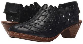 Rieker 46778 Sina 78 (Nero/Black) Women's Slip on Shoes