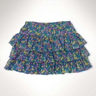 Floral Pull-On Skirt