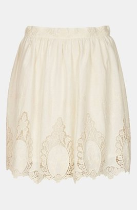 Topshop Doily Lace Skirt Cream 10