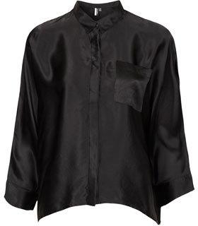 Topshop Premium Silk Boxy Shirt