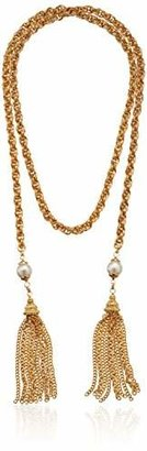 Ben-Amun Jewelry Knotted Tassel Gold Chain Necklace