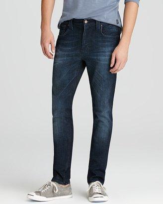 Nudie Jeans Tape Ted Slim Fit in Organic Flat Navy