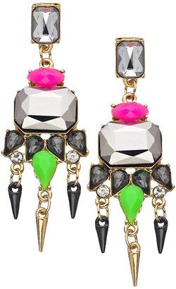Blu Bijoux Crystal Art Deco Earrings