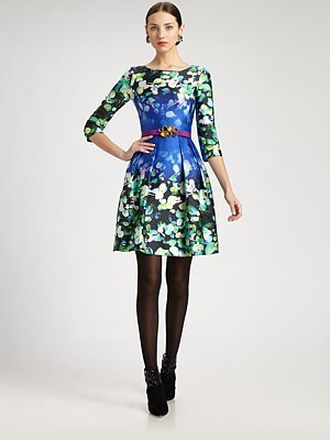 Oscar de la Renta Printed Dress
