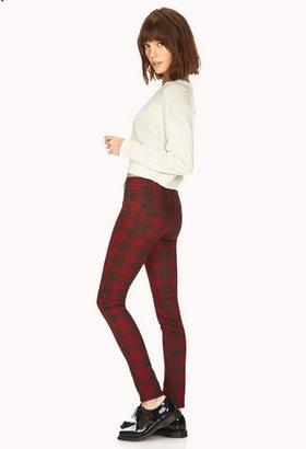 Forever 21 Favorite Plaid Skinny Jeans