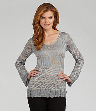Nurture V-Neck Metallic Sweater