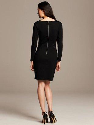 Banana Republic Faux-Leather Inset Dress