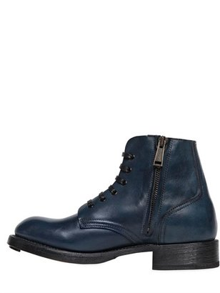 DSquared Rebel Leather Ankle Boots